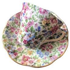 Cup and Saucer Set, Rosina China Co., England