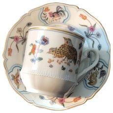Cup and Saucer Set, Haviland Limoges France, 'Golden Quail'