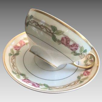 Set of Four: Wm Guerin & Co, Limoges France, Cup & Saucer set ca. 1901-1932