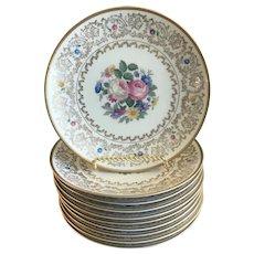 Vintage Set of 10 Dessert/Pie Plates, Bavaria, ca. 1939-1952
