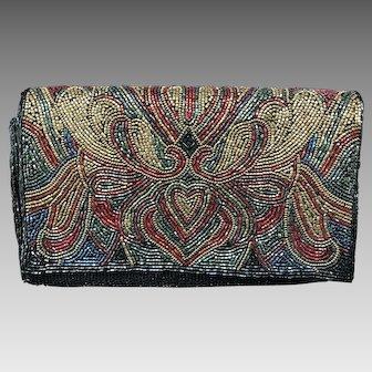 Shimmering Beaded Handbag, Sophisticated Design, Marshall Fields