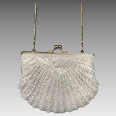 Pastel Pink Beaded Handbag