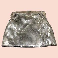 Silver-Gold Mesh Small Handbag, Whiting Davis