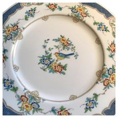 Hand Decorated Minton Dinner Plates, Set of SIX, ca.1920-1940s