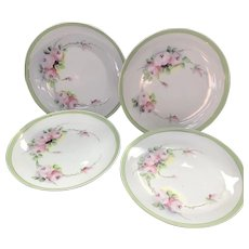 Antique HandPainted Nippon Dessert Set of Four Plates ca.1891-1921