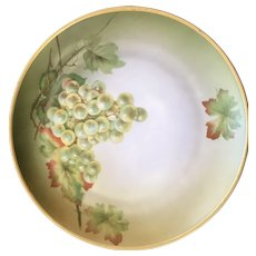 Set of 4 Handpainted Plates, Fruit Motif, Hutschenreuther Selb Bavaria