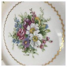 Set of 10 Dinner Plates, Charles Ahrenfeldt, Limoges, France