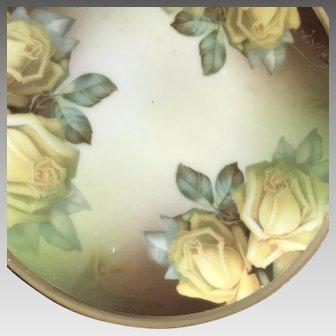 Signed Small HandPainted Plate, Thomas Bavaria ca.1908-1939