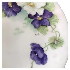 Signed Small HandPainted Plate ca. 1910s-1930s
