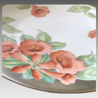 HandPainted P.T. Bavaria Cabinet Plate signed