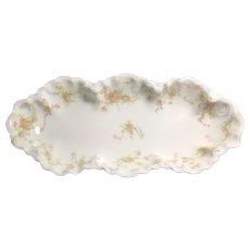 Pink Roses Celery Dish, Haviland Limoges France  ca. 1893 – 1930