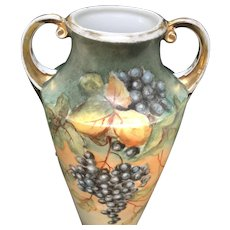 H. Wehinger HandPainted Dual Scene Vase, Czechoslovakia