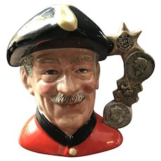 Large Royal Doulton Character (Toby) Jug Chelsea Pensioner by Stanley James Taylor