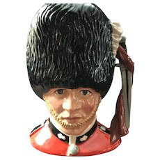 """Large Royal Doulton Character (Toby) Jug """"The Guardsman"""" by Stanley James Taylor"""