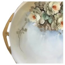 Vintage Small HandPainted TidBit Tray, SIgned by Artist, Czech, ca. 1918~1939