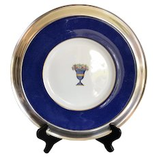 Spode Copelands China in Sterling Rim ca. 1940s