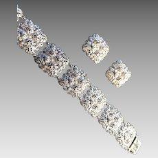 Vintage Alice Caviness Sterling Bracelet & Earring Set