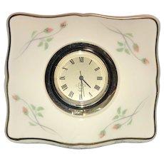 Rose Manor Desk Clock by Lenox ca.1985-1999