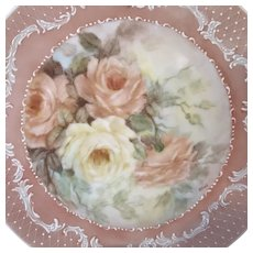 Exquisite Vintage HandPainted Cabinet Plate, Signed by Artist