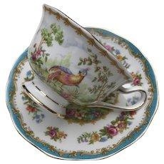 ": Vintage Royal Albert ""Chelsea Bird"" Cup & Saucer Set ca. 1980"