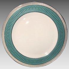 Vintage Dinner Plate by Tirschenreuth, platinum rim, ca. 1980 - 1995
