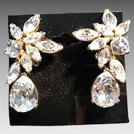Vintage Nolan Miller Crystal Drop Earrings