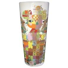 """Vintage Rosenthal Germany """"1001 Nights"""" ~ 8"""" Cylinder Vase, Bjorn Wiinblad, ca. 1950s~1970s"""