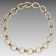 Vintage Park Lane two-tone Necklace
