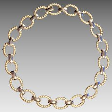 Vintage Park Lane two-tone Necklace