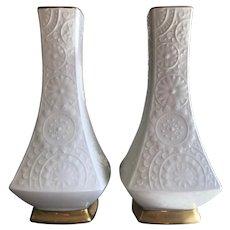 Vintage Noritake Vases, Set of Two, ca. 1970s