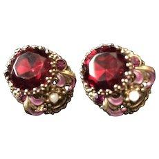 Vintage West Germany Stunning Clip Earrings