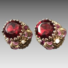 Vintage West Germany Stunning Clip Earrings