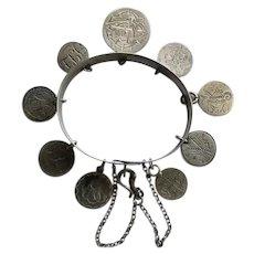 Antique Victorian Love Token Bracelet w/ Safety Chain