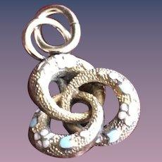 9KT Gold Enamel Marriage Ring Charm Pendant