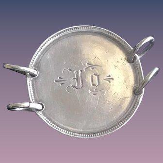 Antique Victorian JO 1800's Name Love Token Coin 800/1000 Silver