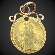 Antique 1800's George III Gold Coin Love Token