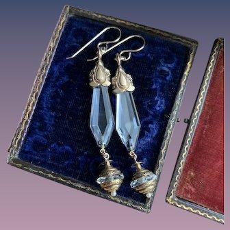 Rock Crystal Wedding Bridal Dangle Charm Earrings