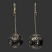 Pique Sterling Silver Charm Drops on 14KT Leverback Earrings