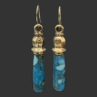 14KT Solid Gold Mourning Earrings