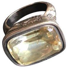 Antique Georgian Natural Rock Crystal Quartz Gemstone Wax Seal Fob