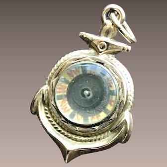 Antique 9CT Gold Compass Anchor Fob