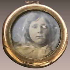 9CT Rose Gold Engraved Mourning Locket