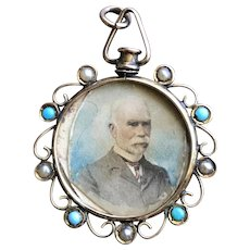 Antique Edwardian 9CT Solid Rose Gold Photo Picture Locket w/