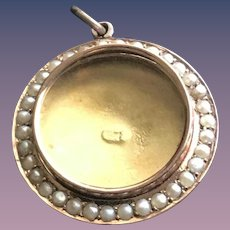 Antique Georgian Freshwater Pearl Mourning Tear Locket in 9CT Gold