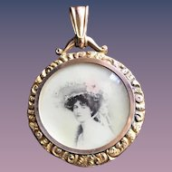 Antique Edwardian Solid 9CT Gold Mourning Locket - Double-Sided