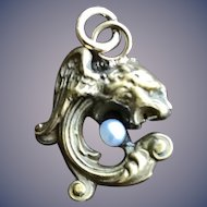 Griffin Gargoyle 14KT Solid Gold Charm Necklace