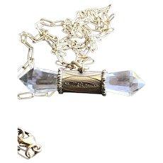 Rock Crystal Gemstone Tbar Pendant Necklace
