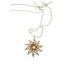 14KT Gold Diamond Star Pendant Necklace