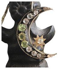 Paste Moon Crescent Pendant Necklace
