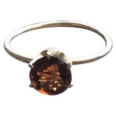 Citrine Gemstone Solitare Ring in Solid Gold